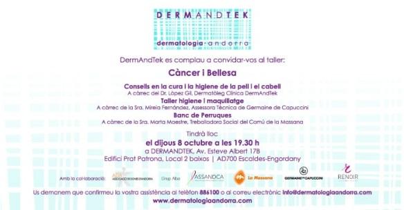 MAILING TALLER CANCER I BELLESA- DERMANDTEK 8 OCTUBRE
